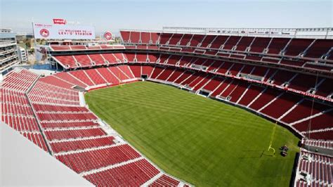 levis stadium seating chart pictures directions  history san francisco ers espn