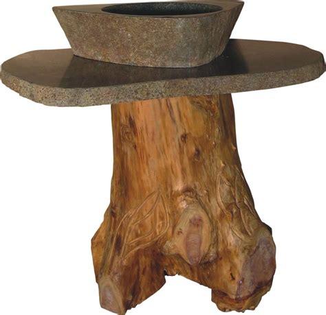 tree trunk vessel sink vanity uvqvanfaint
