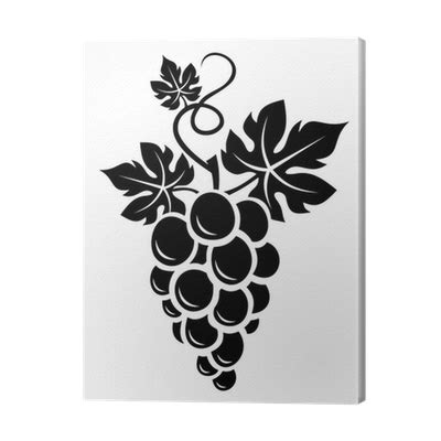black silhouette  grapes vector illustration canvas