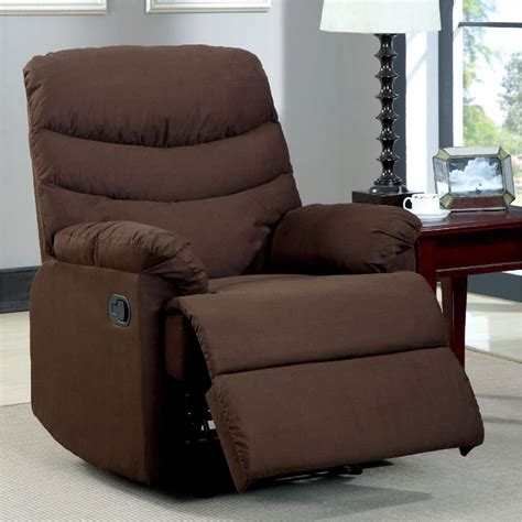 Microfiber Recliner by Home Decorators Collection Clive Brown Microfiber