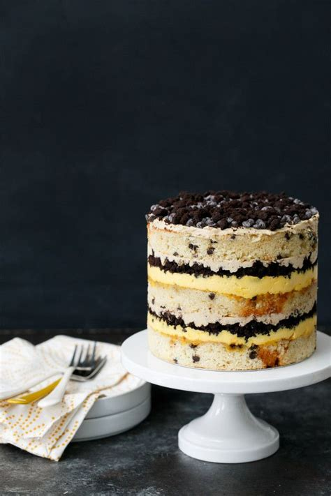 buttermilk chocolate chip passion fruit naked layer cake