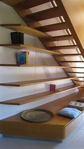 Escalier En Htre Balanc Gauche Au Roves MENUISERIE