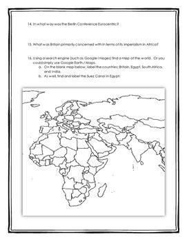 scramble for africa imperialism in africa webquest