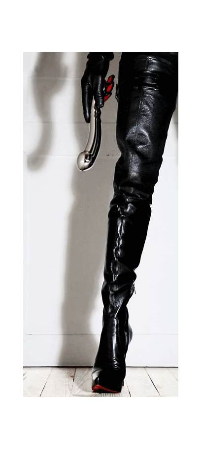 Mistress Leather Bdsm Gifs Thigh Boots Latex