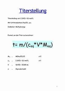 Titration äquivalenzpunkt Berechnen : calam o titerstellung ~ Themetempest.com Abrechnung