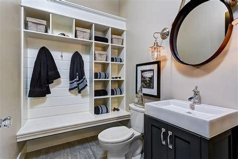 Powder Room  Ee  Mudroom Ee   Cottage Bathroom Clark And Co Homes