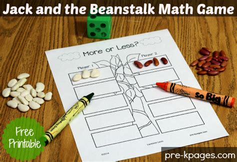 more or less and the beanstalk activity 231 | jack and the beanstalk math game