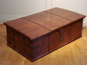 sold antique decorative trunk or coffee table antique With decorative trunk coffee table