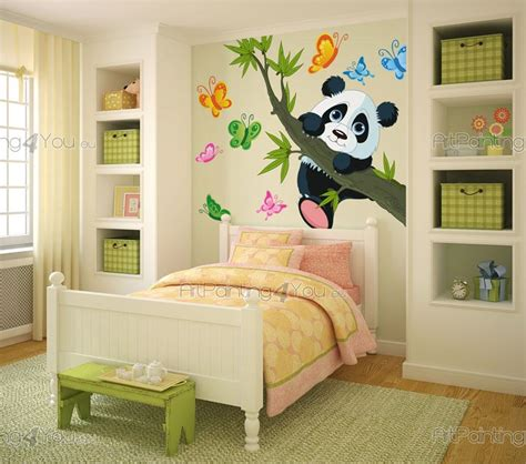 chambre panda stickers chambre bébé ours panda 1670fr
