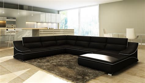 canapé d angle cuir noir et blanc deco in canape d angle en cuir noir et blanc