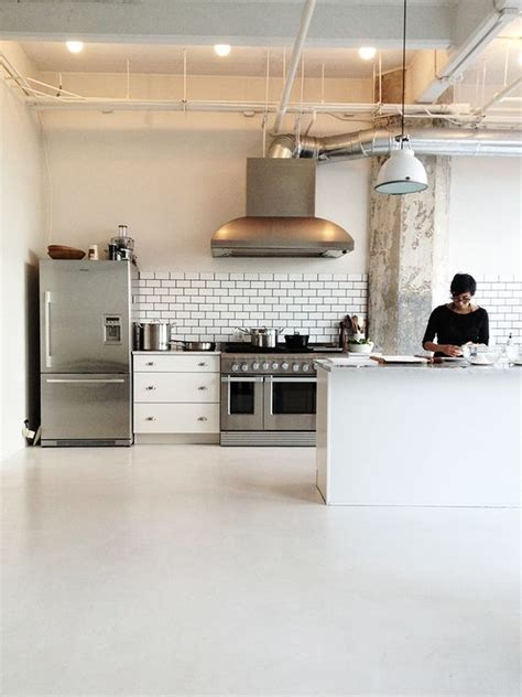 commercial kitchen backsplash commercial kitchen like the simple materials subway tile backsplash with dark grout high end