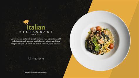 italian restaurant menu mockup psd file