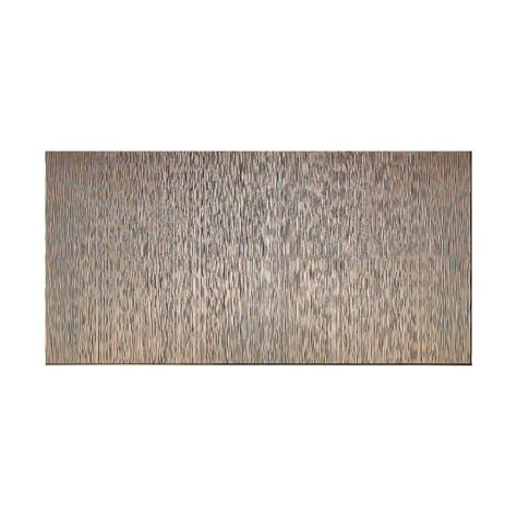 shop fasade brushed nickel faux fasade ripple vertical 96 in x 48 in decorative wall