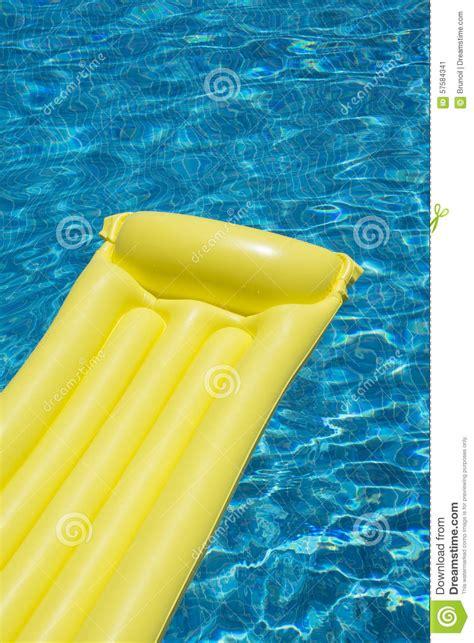 mattress in swimming pool
