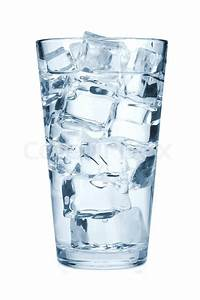 Glass of pure water with ice cubes | Stock Photo | Colourbox