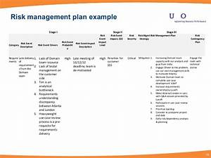 project risk management With event risk management template