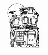 Coloring Haunted Pages Printable Drawing Houses Simple Colouring Sheets Easy Scary Bestcoloringpagesforkids Mansions Getdrawings Popular sketch template