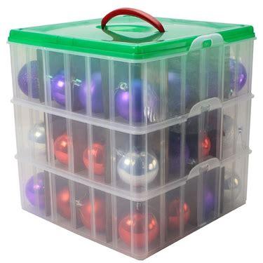 snapware christmas and holiday ornament storage box