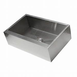 33 inch stainless steel flat front farm apron single bowl With 33 inch farmhouse apron sinks