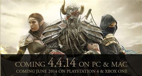 Elder Scrolls Console Release Date by Elder Scrolls Release Date 4 4 14 Skyrim Fansite