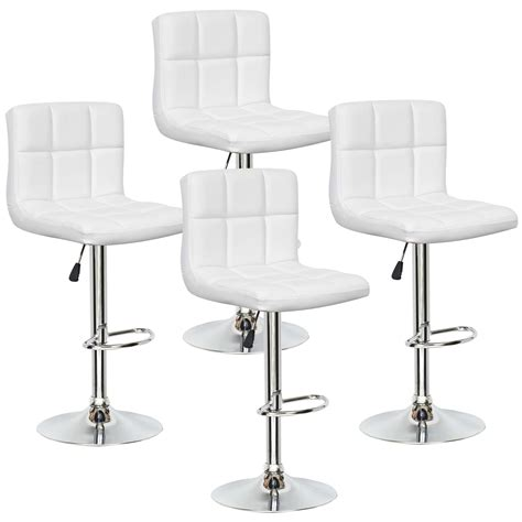 deco in lot de 4 tabourets de bar blanc scalo scalo tab blanc 4
