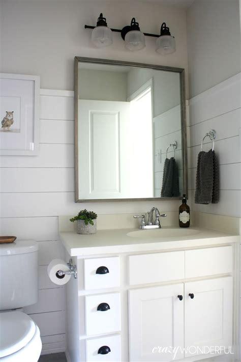 Shiplap For Bathroom Walls by Wonderful Shiplap Boy S Bathroom Reveal Bathrooms