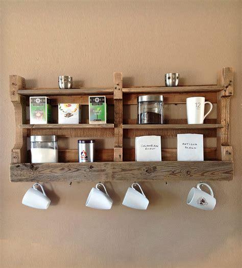 shelf of coffee salvaged wood coffee tea shelf home decor lighting