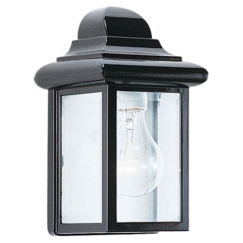sea gull lighting 8588 12 black georgian cast outdoor 1 light lantern wall sconce