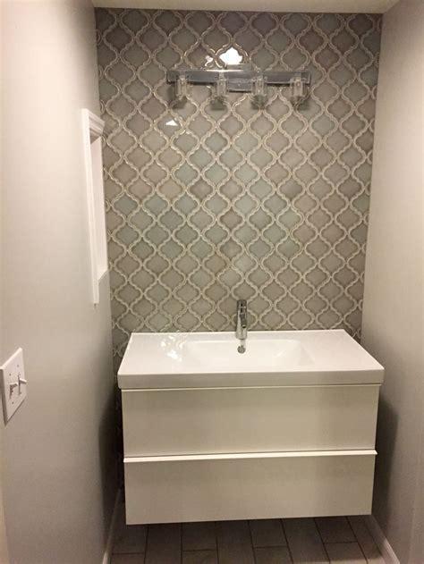 home depot dove gray arabesque tile bathroom wall home