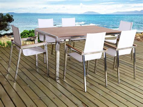 chaises salon de jardin salon de jardin en inox seychelles quot quot 6 chaises
