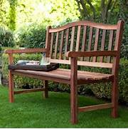 Belham Living Richmond CurvedBack 4ft Outdoor Wood Bench  Outdoor Benches