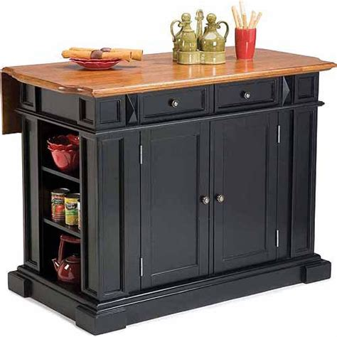 Kitchen Island Walmart by Home Styles Traditions Kitchen Island Black Distressed