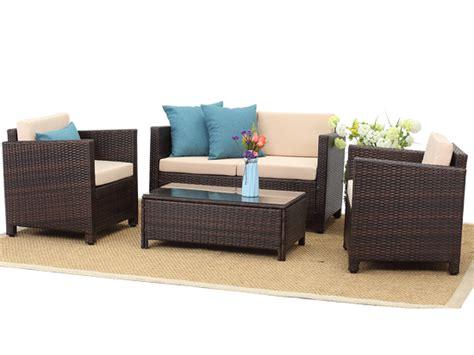 china 2020 domestic 4 pcs pe rattan outdoor living sofa