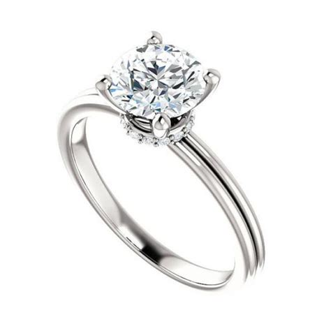 7mm forever one moissanite wrap halo engagement