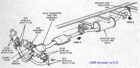 2001 ford taurus exhaust system diagram choice image