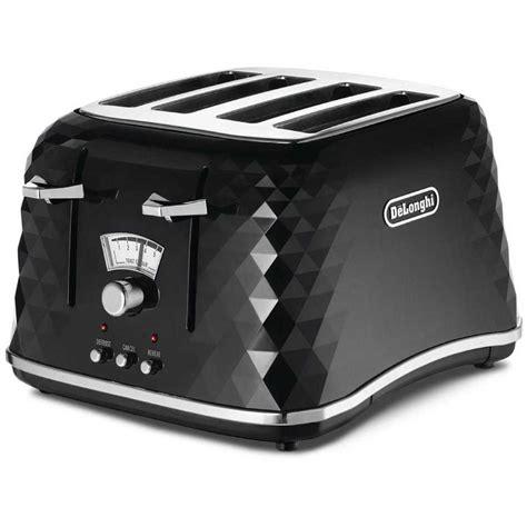 delonghi toaster delonghi brilliante series 4 slice toaster black ctj4003