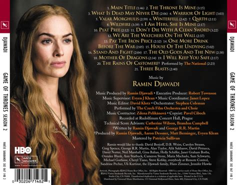 games  thrones season  official soundtrack details
