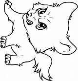 Wolf Baby Angry Coloring Printable Pages A4 Description sketch template