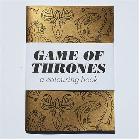 game  thrones coloring book