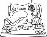 Coloring Sewing Machine Getdrawings sketch template