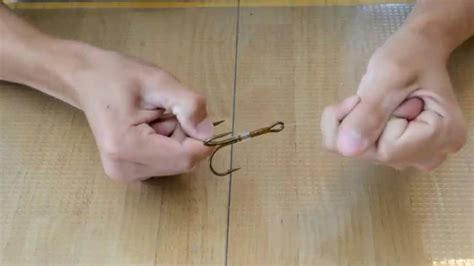 How To Tie A Snell Knot On A Treble Hook  Youtube