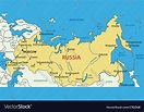 Russian Federation - map Royalty Free Vector Image