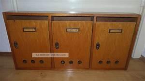 Briefkasten Holz Antik : alter 3er briefkasten aus holz treppenhausbriefkasten f r 3 parteien 50er 60er ~ Sanjose-hotels-ca.com Haus und Dekorationen