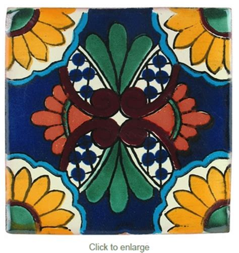 Southwest Mexican Tile Tucson by Mexican Talavera Tile Pp2186 15 Handpainted Tiles