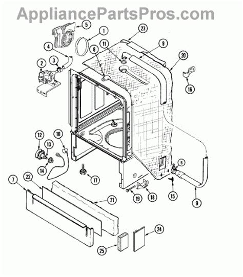 Whirlpool Gold Dishwasher Parts Diagram Automotive