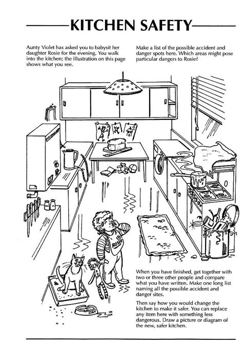 safety in the home worksheets kitchen search adults home safety kitchen safety