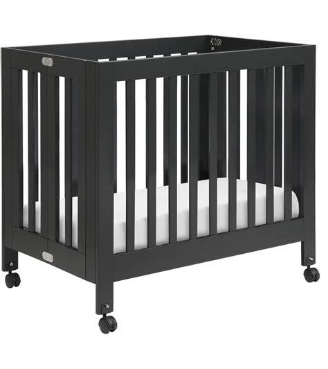 babyletto mini crib babyletto origami mini crib in black finish