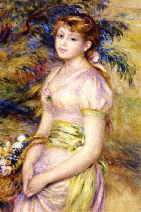 stampa giovane donna  cesto  fiori su poster  quadri