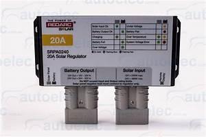 Redarc 20 Amp 20a Solar Panel Charge Regulator Controller
