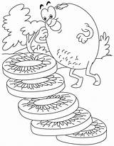 Kiwi Coloring Pages Fruit Colouring Bestcoloringpages Drawing Sheets Printables sketch template
